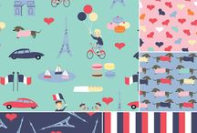 French Lessons / Paris is reinvented in Jack and Lulu's signature bold, illustrative hand and a palette of bright mint, pink, deep navy, and red. It has a certain… je ne sais quoi. J'adore French Lessons! / by Dear Stella