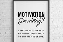 Motivation Monday Free Printables / A new free printable, released every Monday, and available for one week only, before it's moved into my Etsy shop. / by Michelle // Elegance & Enchantment