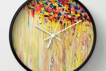 TICK TOCK Goes the Clock / Lovely new Ebi Emporium wall clocks!  #homedecor #decor #clock #art #fineart #colorful #decorative #interiors #home #decoration #tictoc  / by Julia Di Sano