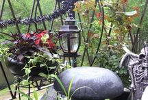 Gothic Gardening / The darker side of garden decor - black plant and flower varieties, vicious vines, gargoyles, moonlit gardens, and other whimsical findings to help attract creatures of the night... / by WebSpinstress