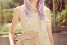 Lilac Hair / From ombre to colour block this is our lilac look board.  Gone are the days of the purple rinse being for grannies only! / by Jane Jenkins