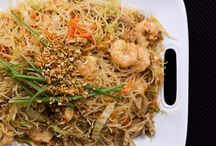 Pancit Bihon (Philipino noodle dish), from Chaos in the Kitchen / by Adriana Soares