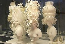 paper wigs/paper fashion inspiration / by Brook Mowrey
