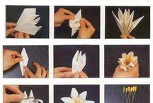 papírové květy / by Hana Kreinerova
