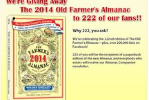 Contests / Our contest and sweepstakes opportunities for our fans! / by The Old Farmer's Almanac
