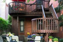 Outdoor Living / Decks, Firepits, Walkways, And Other Cool Outdoor Ideas... / by dave shrader