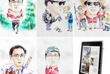 My Caricatures / Few My Caricatures Since 1967~2012 / by Sam Yoonsoo Yoo