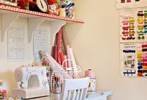 Sewing and Crafting Spaces / by Kathryn Humphreys