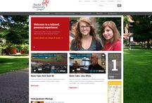 Our New Website / In late 2013 we began work on our brand new website and anticipate an end date during 2014. Here is a collection of sneak peeks at how the website will look! / by Pacific University