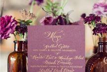 Plum Wedding Inspirations / by MyItalian Wedding