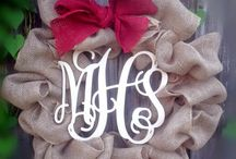 Burlap Monogram Wreath / by Monogram Wreaths