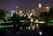 Charlotte NC  / Charlotte NC is located in the heart of the Southeast United States in Mecklenburg County. Towns that border Charlotte are Cornelius, Davidson, Huntersville, Matthews, Mint Hill and Pineville. Charlotte is the seat of Mecklenburg County, home to more than 1 million residents. / by Walid Muhammad