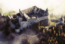 Hohenwerfen Castle / I used this Austrian castle, filmed in The Sound of Music, as the model for Braeth Hold in DawnSinger, book one of my Tales of Faeraven epic fantasy series.  / by Janalyn Voigt -- Creative Worlds of Fiction