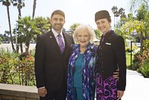 Safety Old School Style with Betty White  / We have teamed up with America's sweetheart of comedy Betty White and a cast of golden oldies for our latest in-flight safety. Check out some of the pics! www.airnewzealand.com/safetyoldschool #AirNZSafetyVideo / by Air New Zealand