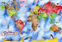 Geography Pre-k - 1st / by Laura Ownby
