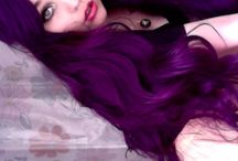 Purple hair / I have such commitment issues. Need to re look at my hair inspiration pics every once in a while.  / by Sam Katz