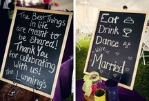 Wedding Chalkboard Signs / Get ideas for wedding welcome signs and cute wedding sayings  / by Love & Lavender