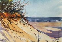 Dunes and ocean / by Martha Archambault