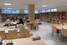 Bibliotecas escolares de secundaria. Espacios / #bibliotecaescolar / by RedBECREAMálaga