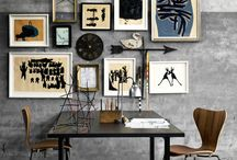 Home Decor: Framed gallery  art wall / Nice, elegant ways to display artwork and art collections. / by Roz -Designs