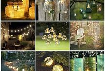 """Outdoor Lighting / Living in Palm Springs we have very little rain.  8 to 9 months of the year (the other 3 we hibernate because it is so darn HOT!) the weather is beautiful.   Therefore, we do a lot of outdoor entertaining; """"ambience"""" is key.....it sets the tone for the evening. / by Ursula Terrazas"""