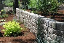 Retaining Walls / This board shows a variety of retaining wall projects using segmental retaining walls from Mutual Materials. / by Mutual Materials