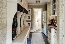 Laundry and mudrooms / by Mallory @ the House of Hydrangeas