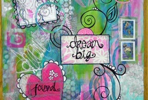 DREAM BIG journals / inspiration from my students DREAM BIG journals! this project is from my Discovering YOU creative business/marketing e-courses. http://kollaj.typepad.com/discovering_you_art_marke/ / by Traci Bautista