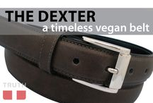"The Dexter Vegan Belt / The Dexter belt is a classic belt from Truth Belts. It's has the look of leather and will fool any one. We like to call it ""genuine non-leather"". Made in Canada by Truth Belts. www.truthbelts.com $56.00 / by Truth Belts - Vegan Fashion"