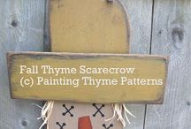 Painting Thyme Patterms / Painting Thyme Patterns are hand painted designs created by me to add to your seasonal decor. Available as E-patterns / by Lynn Smith Barbadora(Painting Thyme Needfuls)