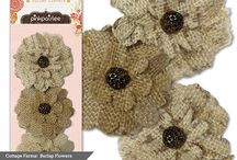 """Cottage Farms Collection / Inspired by all things """"cottage"""" this collection was almost named 'farmstead.' It is perfect for any girl who loves to shop her local farmer's market!  We even added burlap flowers to adorn all your organic creations! #pinkpaislee #scrapbooking #DIY / by Pink Paislee"""