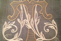 Monograms...... (vintage the older, the better) / by William A Finch
