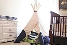 Teepee {reading nook} / by SewFatty