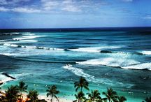 Waikiki Beach Island of Oahu Hawaii / My Favorite Place in the world. Everybody must go to #Hawaii. I love the ocean, the sunrises, the dolphins and whales. The home of the #aloha spirit / by Bardi Toto