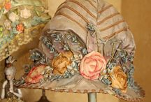 embroidered, ribbonry  / Beautiful flowers and embellishments made with ribbon and embroidery thread / by Mary Marcotte