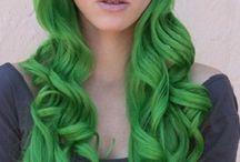 green hair / by Marye Hdez Balderas d Rojas