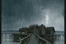 storms / severe rain lightning  / by Elida Ortega-Velez