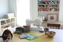 Drool-worthy sewing spaces / by Janice @ Better Off Thread