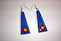 Clay, Polymer, Earrings / Fine art designed and handcrafted earrings exclusively or primarily created from polymer clay. / by C W Poole