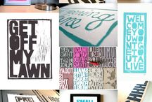 T Is For... Typography / Typography-obsessed. / by Actually I Do / Kate Waddleton