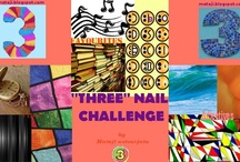 """THREE"" Nail Challenge / by Mateji ustvarjata"