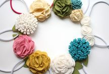 DIY / Fabric & Paper Flowers / fabric / paper flowers / by Donna Caillouet
