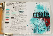 Art Journal Pages Designed by Andrea / My place to share the art journal pages that I create / by Andrea Walford