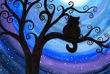 hobbies. canvas / canvas. cheesy art. festive holidays. acrylic. oil. water color. guache. color pencils. water color pencils. charcoal. oil pastels. pastels. / by Gina Strojek