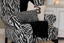 black & white / decorating with black and white: zebra, toile, polka dots / by Rachel Nystrand