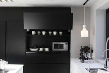 Black & White in the Kitchen / Color your Kitchen with Black and White / by Franke Luxury