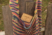 Hand Knit Shopping Bags by Indigo Kitty Knits / by Indigo Kitty Knits