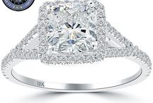 Pave Halo Engagement Rings / by Liori Diamonds