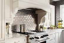 Kitchen with subway tile backsplash / by Bradley Stone Industries