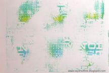 """Gelli Plates / by Creatief inloophuis """"De vrije hand"""""""